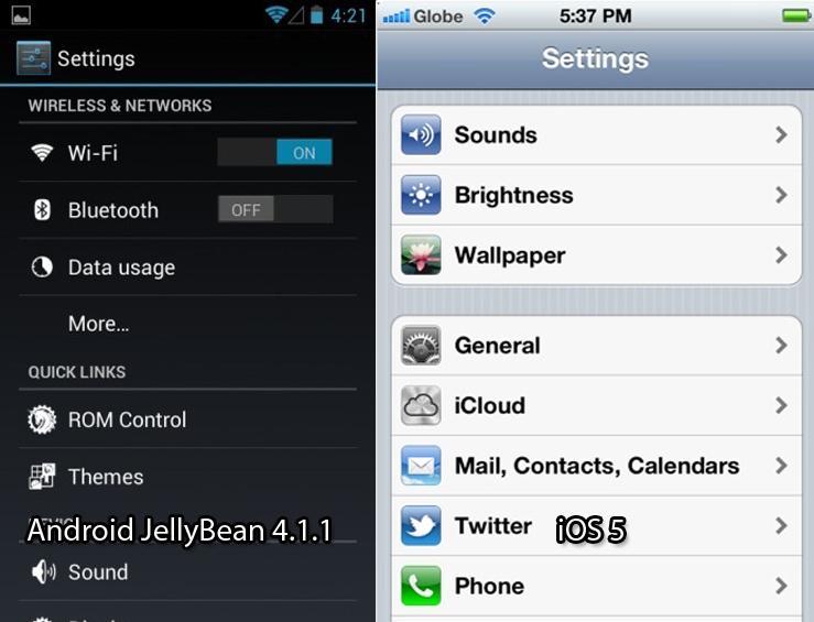 Android ou iOS? Android ou iOS? Config