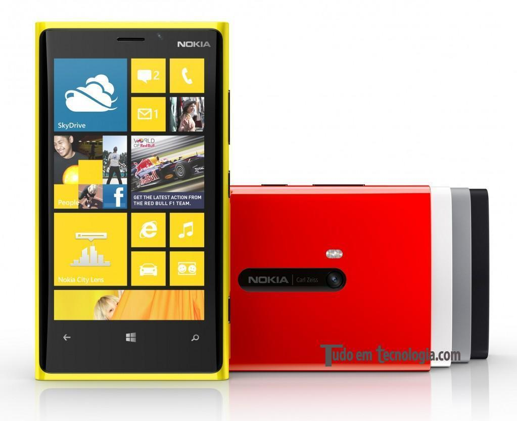 Nokia Lumia 920 e suas cores disponíveis.