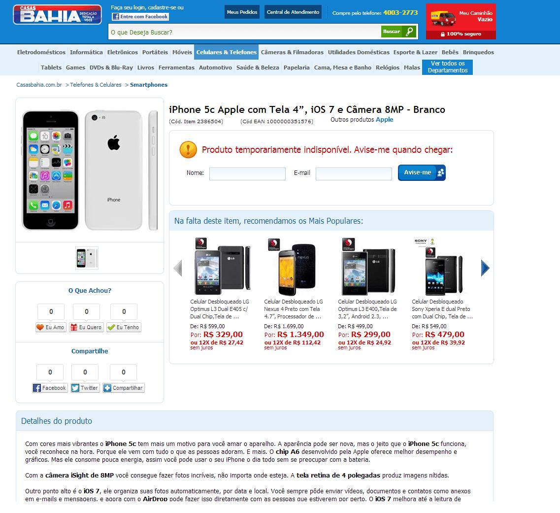 do iPhone 5C no Brasil e nem quando o aparelho estará disponível #1773B4 1137x1041