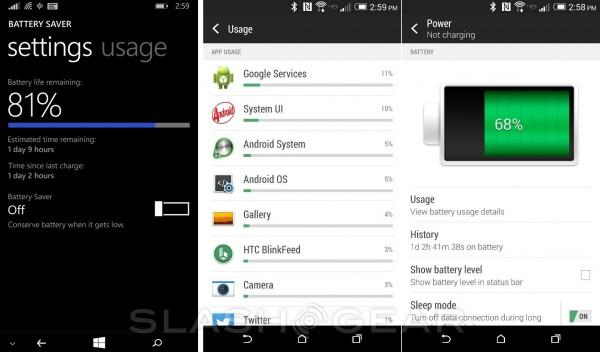bateria Windows Phone vs Android