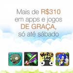 Amazon disponibiliza R$310 em apps de graça
