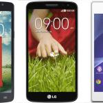 Promoção de Smartphones: L80, G2 Mini e Xperia M2
