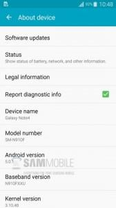 Note 4 Android 5.0.1