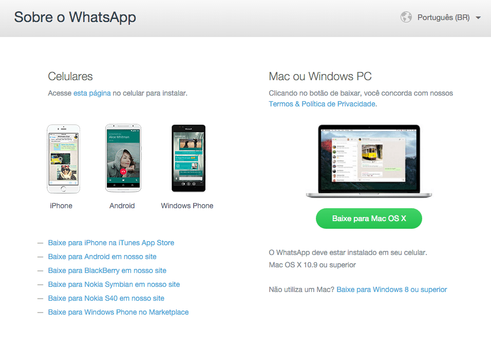 WhatsApp Mac e Windows