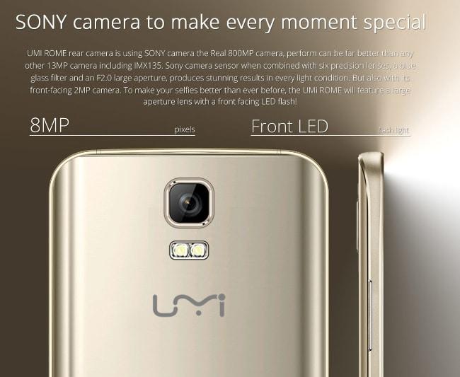UMI ROME 4G-camera