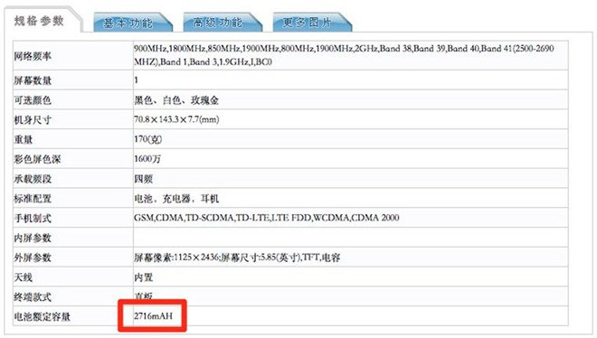 IPhone X possui 3GB de RAM e bateria de 2.716mAh