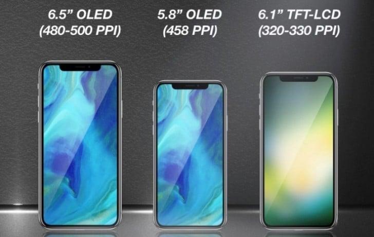 Apple pode lançar três novos aparelhos semelhantes ao iPhone X em 2018