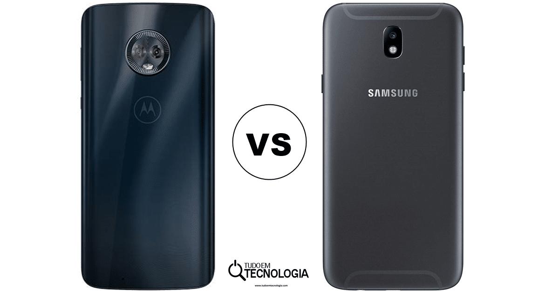 b338eee18 Quem vence  Moto G6 vs Galaxy J7 Pro – Tudo em Tecnologia