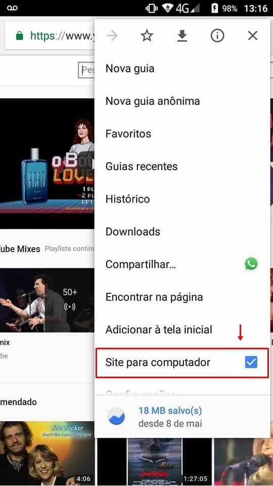 Como rodar vídeos do YouTube em segundo plano no Android