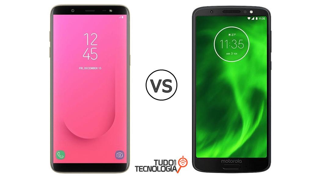 Galaxy J8 vs Moto G6 Plus