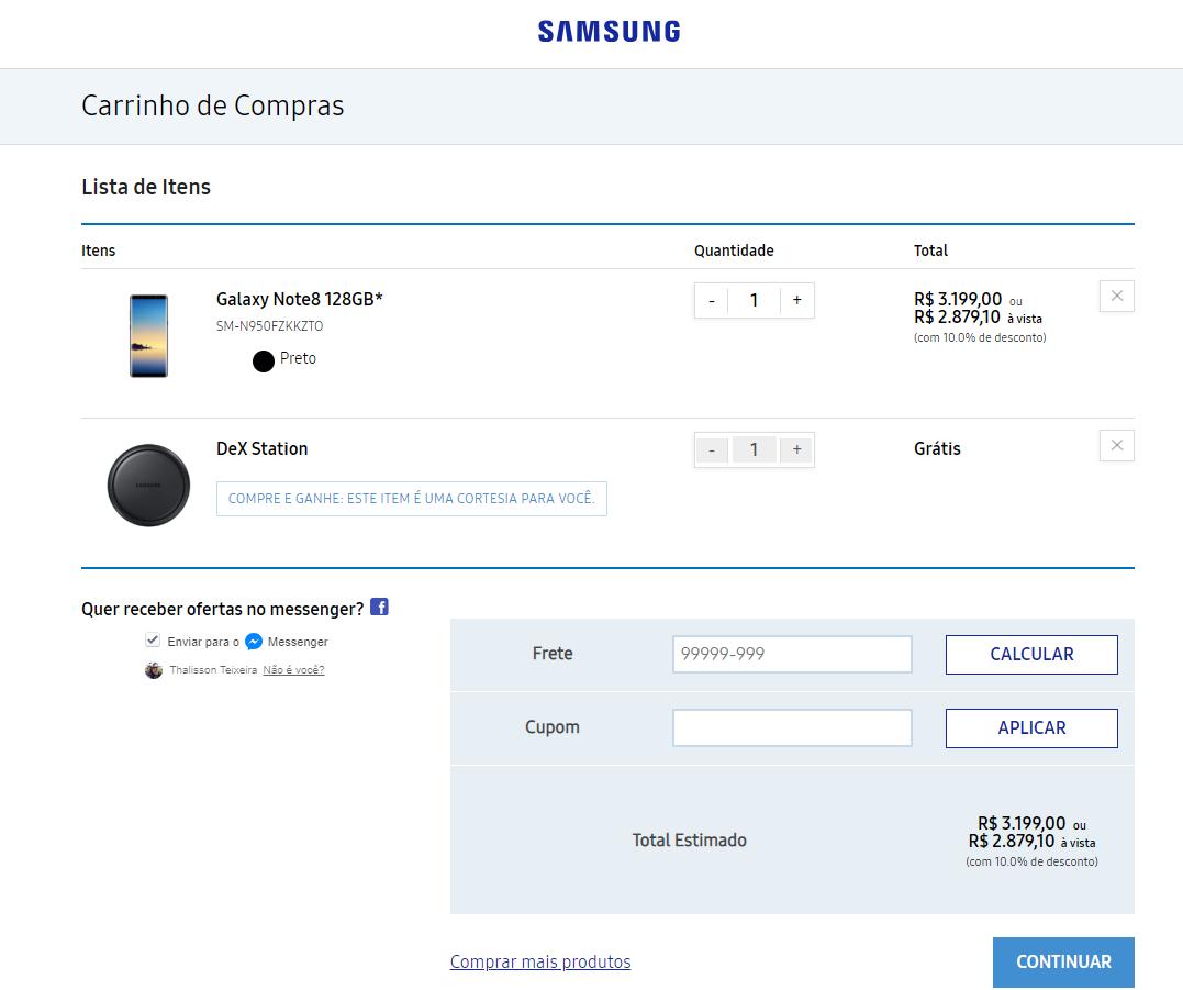 Galaxy Note 8 DEX