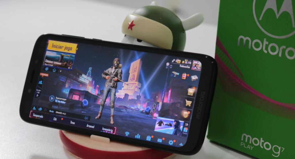 Moto G7 Play roda PUBG