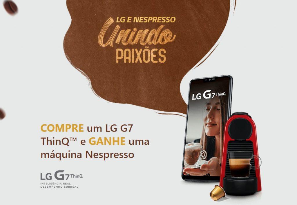 LG G7 e Nespresso