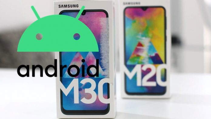 Android 10 Galaxy M20 e M30